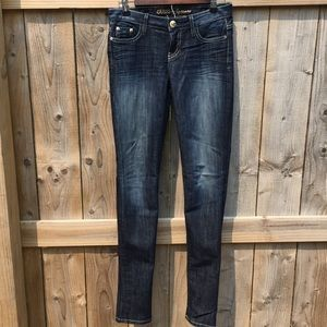 Guess by Marciano darkwash skinny jeans